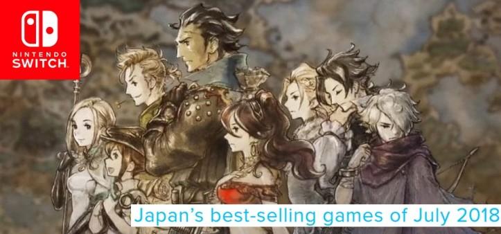 Famitsu - Games mais vendidos de Julho de 2018 no Japão