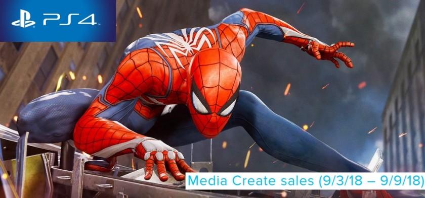 Media Create Sales (9 3 18 – 9 9 18) - Spider-Man foi o game mais vendido da semana no Japão
