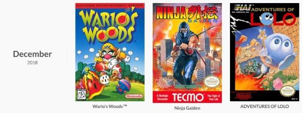 NES Games December 2018 - Nintendo Switch Online