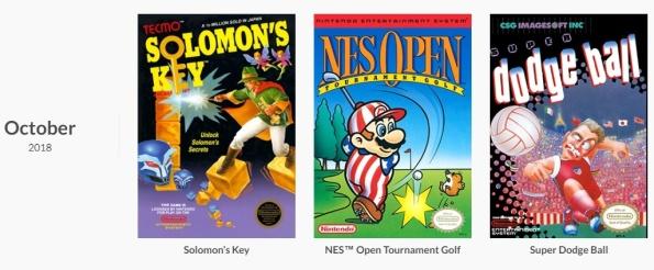 NES Games October 2018 - Nintendo Switch Online