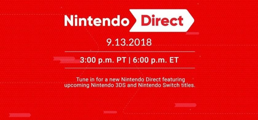Nintendo Direct 09 13 2018 - Anunciado o Direct adiado para AMANHÃ