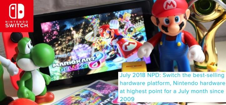 NPD AUGUST 2018 - Nintendo Switch foi o console mais vendido do mês nos E.U.A.