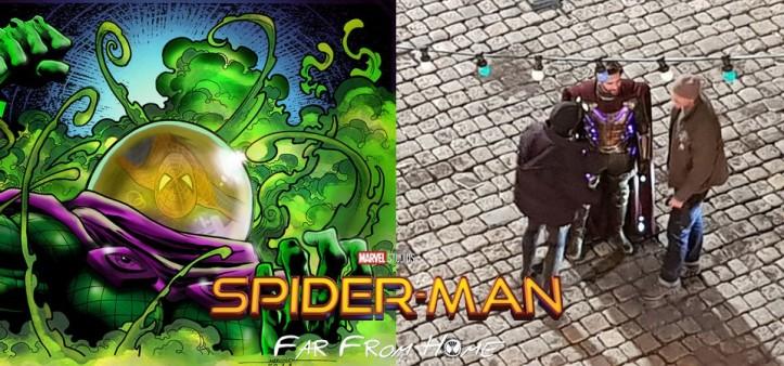 Primeiras imagens do Mistério no set de filmagens de Homem-Aranha Longe de Casa