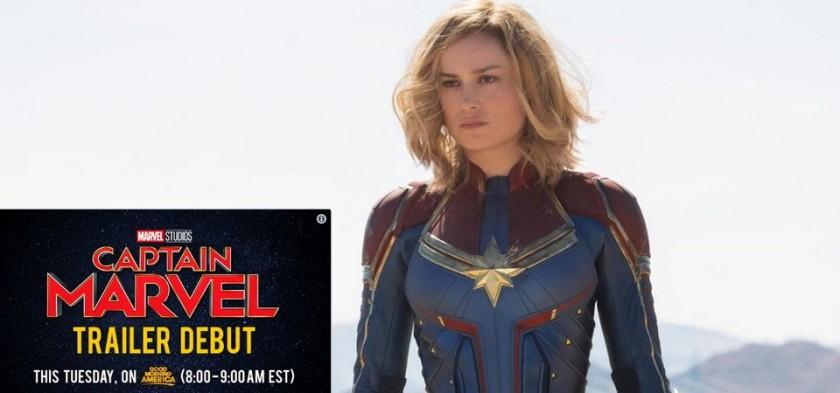Primeiro trailer oficial de Capitã Marvel será liberado na terça-feira, dia 18 09 18