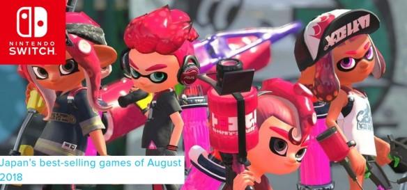 Splatoon 2 foi game mais vendido no Japão em agosto de 2018
