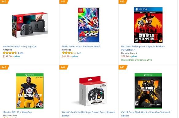 TOP 10 Amazon - Mario Tennis Aces