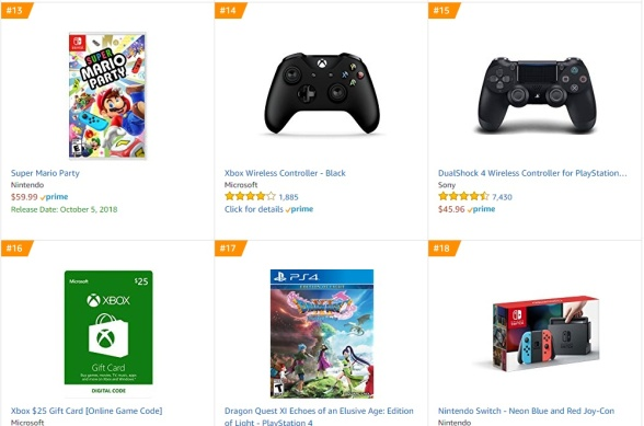 TOP 3 4 Amazon - Super Mario Party Dragon Quest XI