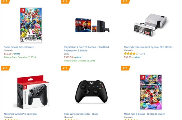 TOP 3 4 Amazon - Super Smash Bros Ultimate Mario Kart 8 Deluxe