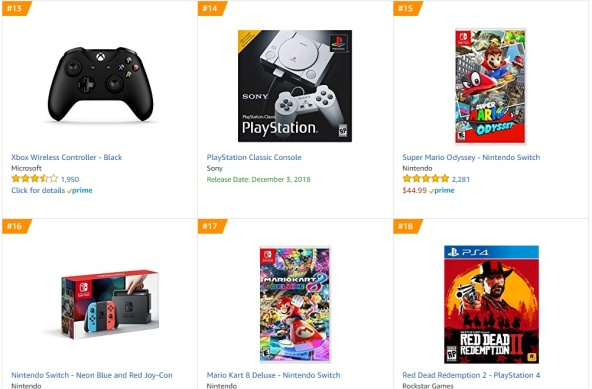 TOP 5 6 7 Amazon - Super Mario Odyssey Mario Kart 8 Deluxe Red Dead Redemption 2