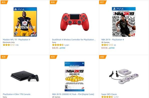 TOP 5 6 Amazon - Madden NFL 19 NBA 2K19