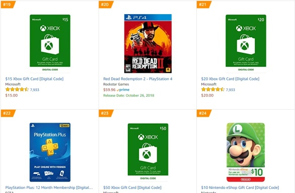 TOP 5 Amazon - Red Dead Redemption 2