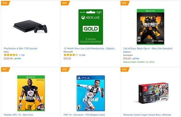TOP 9 10 Amazon - Call of Duty Black Ops 4 Madden NFL 19