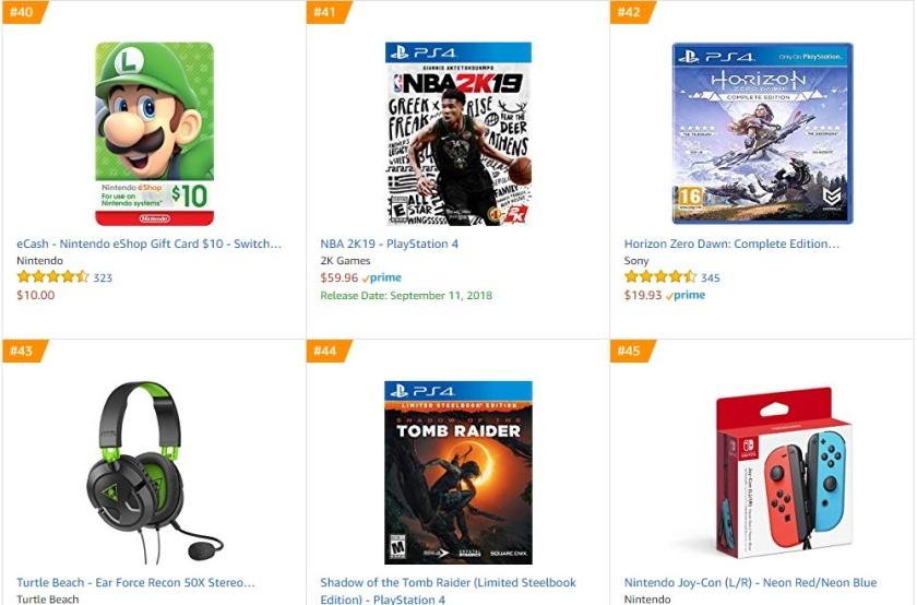 TOP 9 10 Amazon - NBA 2K19 Horizon Zero Dawn