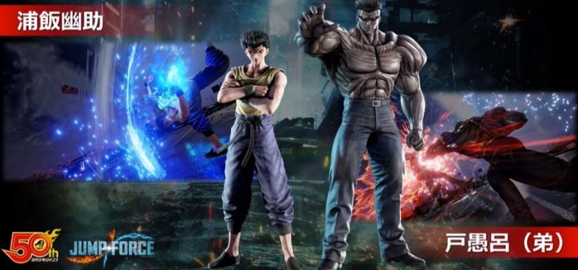 Yusuke e Toguro estarão em Jump Force