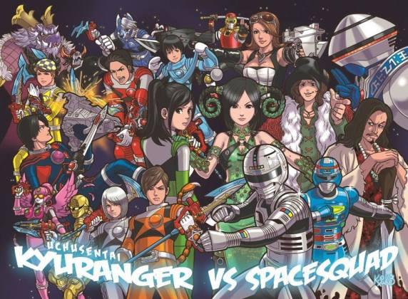 Uchuu Sentai Kyuranger Vs. Space Squad - Arte Especial