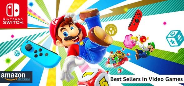 AMAZON - Best Sellers Games (10 07 18) Super Mario Party fica em 1º lugar pela segunda semana nos mais vendidos do E.U.A.