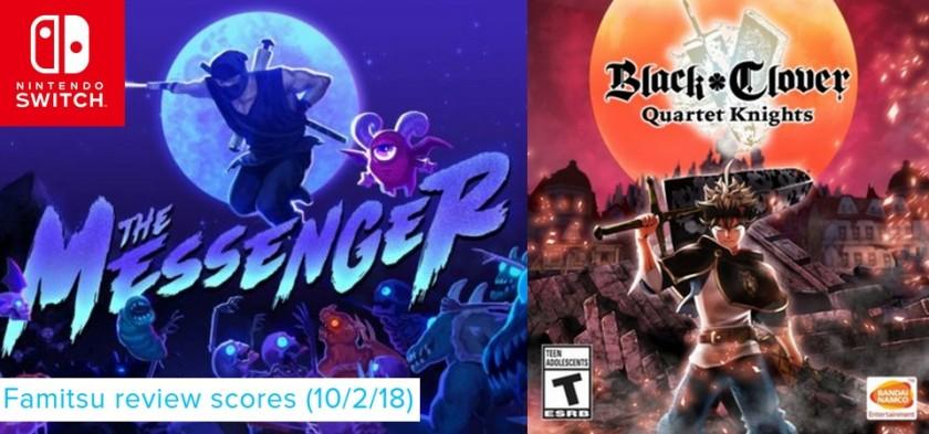 Famitsu Review Scores (10 2 18) - The Messenger e Black Clover são os destaques