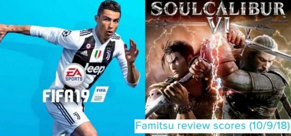 Famitsu Review Scores (10 9 18) - Fifa 19 e Soulcalibur VI são os destaques