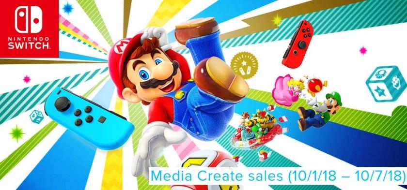 Media Create Sales (10 1 18 – 10 7 18) - Super Mario Party lança em primeiro lugar nas vendas do Japão