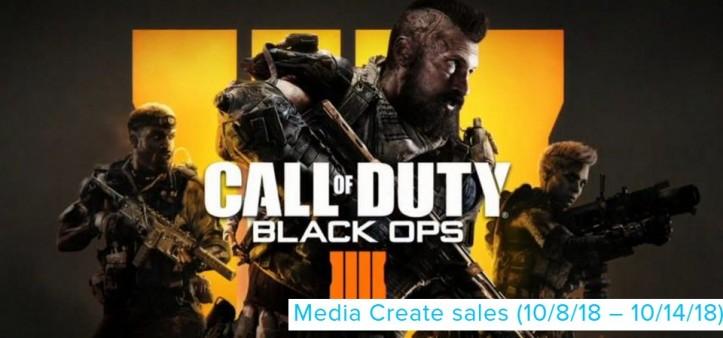 MEDIA CREATE SALES (10 8 18 – 10 14 18) Call of Duty Black Ops III estreia em 1º lugar nas vendas do Japão
