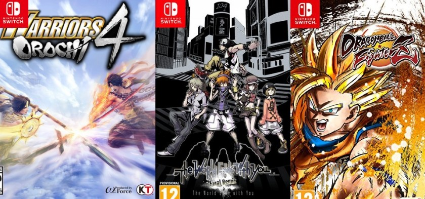 Media Create Sales (9 24 18 – 9 30 18) - Warriors of Orochi 4, Dragon Ball Fighter Z, The World Ends With You, Fifa 19 e outros lançamentos