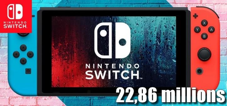 Nintendo Switch ultrapassa 22,86 milhões de unidades vendidas