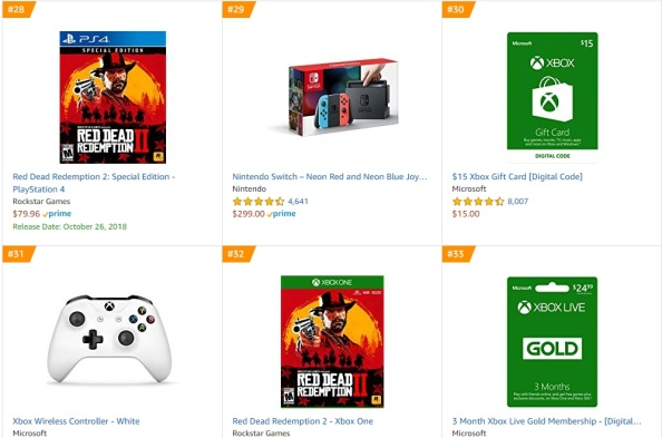 Top 10 Amazon - Red Dead Redemption 2