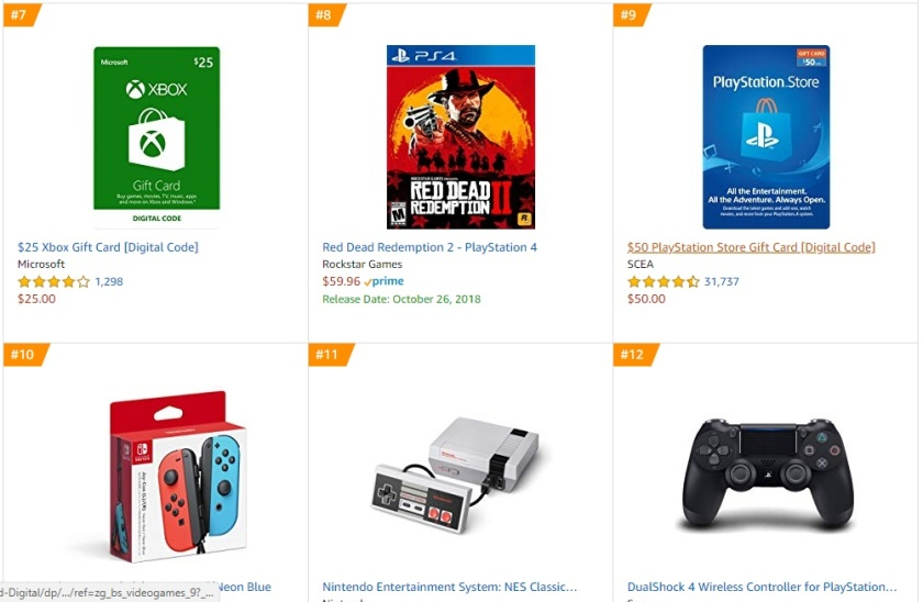 Top 2 Amazon - Red Dead Redemption 2