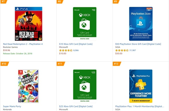 Top 3 4 Amazon - Red Dead Redemption 2 Super Mario Party