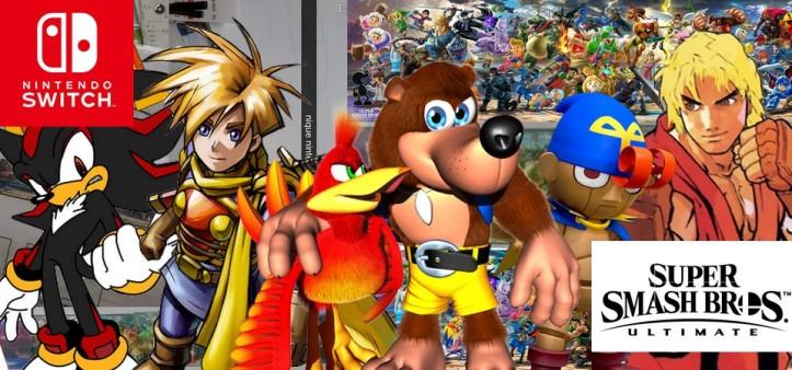 Vazam sete novos personagens de Super Smash Bros Ultimate