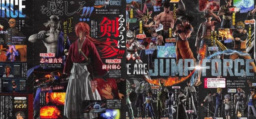 Primeiras imagens de Picollo, Cell, Kenshin e Shishio em Jump Force