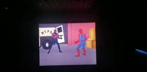 Spider-Man 2099 - Spider-Man Cartoon Joke - Spider-Man into Spiderverse After Credits