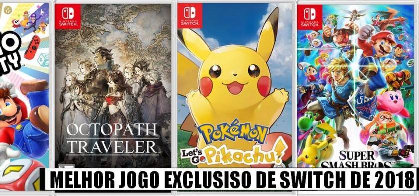 Super Enquete - Qual o Melhor Jogo Exclusivo de Nintendo Switch de 2018