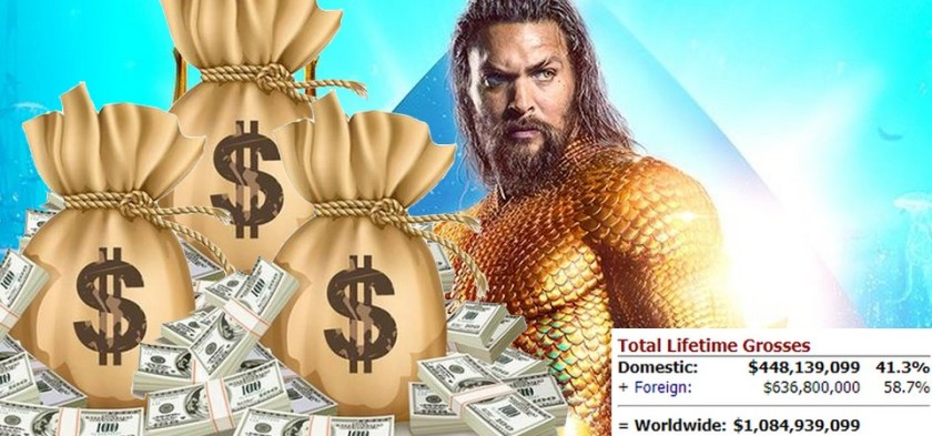 Aquaman se torna a maior bilheteria da dc de todos os tempos