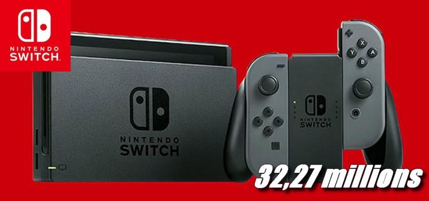 Nintendo Switch ultrapassa 32,27 milhões de unidades vendidas