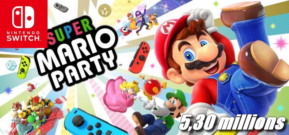 Super Mario Party ultrapassa 5,30 milhões de unidades vendidas