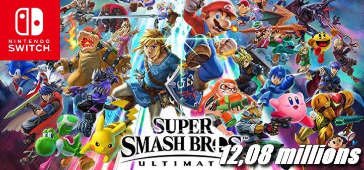 Super Smash Bros Ultimate ultrapassa 12,08 milhões de unidades vendidas