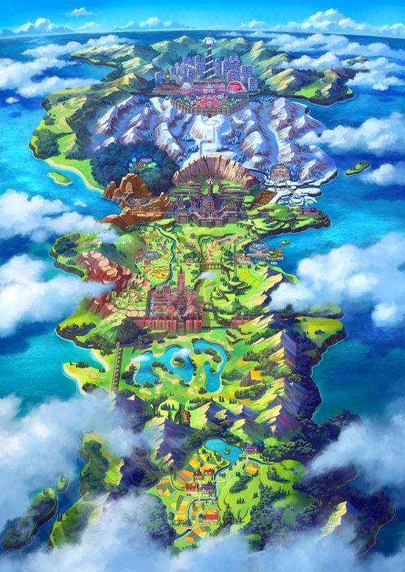 Galar Region - Mapa - Pokemon Sword Shield