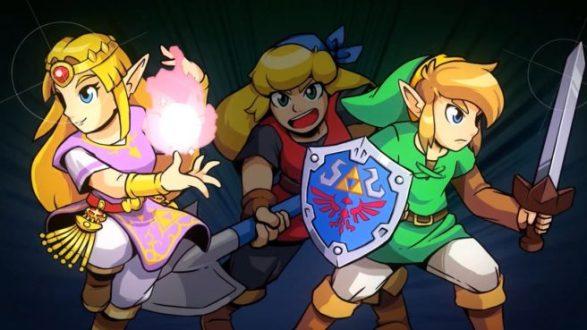 Cadence of Hyrule - Link e Zelda