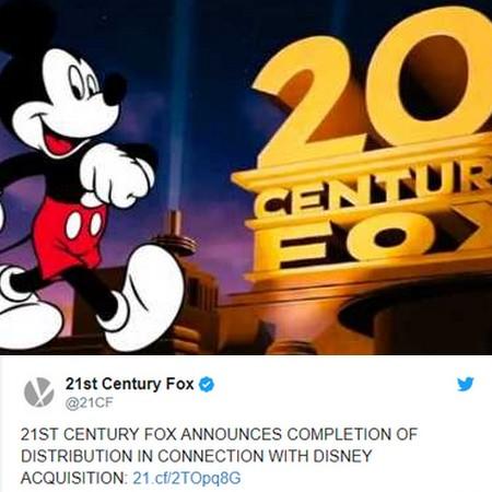 Disney finaliza a compra da Fox