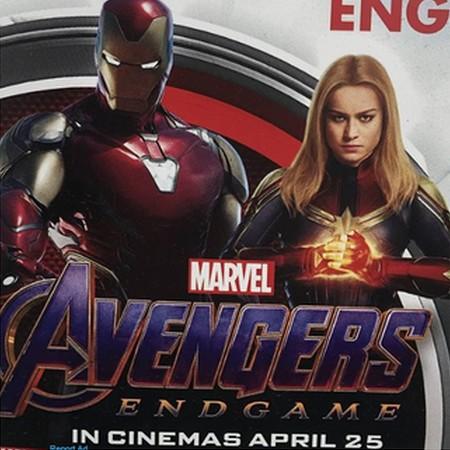Vingadores Ultimato - Capitã Marvel e Homem de Ferro em Promo Poster