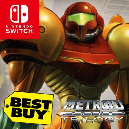 Metroid Prime Trilogy para Nintendo Switch vaza na loja da Best Buy