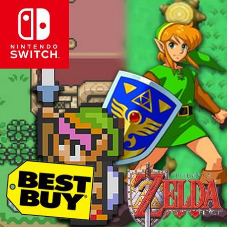 The Legend of Zelda - A Link to the Past para Nintendo Switch vaza na loja da Best Buy