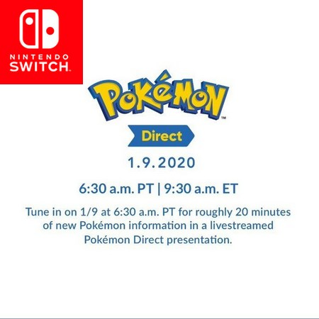 Pokemon Direct 09 01 2020 - Anunciado Nintendo Direct focado em Pokemon para esta semana