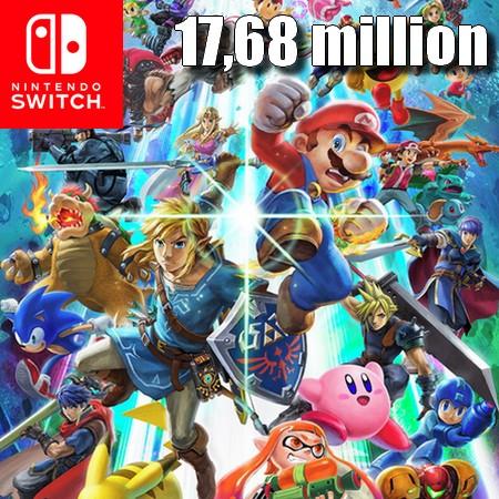 Super Smash Bros Ultimate ultrapassa 17,68 milhões de unidades vendidas