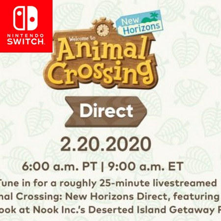 Direct de Animal Crossing anunciado para esta quinta-feira, dia 20 02 2020