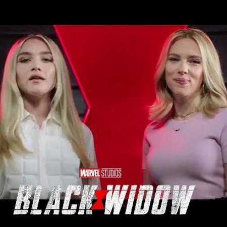 Marvel Studios' Black Widow - International Women's Day com as atrizes Scarlett Johansson, Florence Pugh