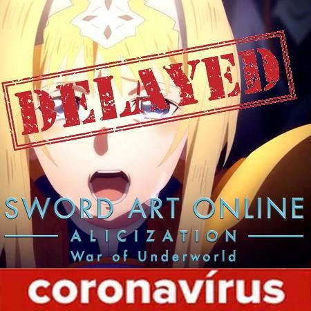 SAO Alicization - War of Underworld - Parte 2 do anime é adiada devido ao Coronavírus