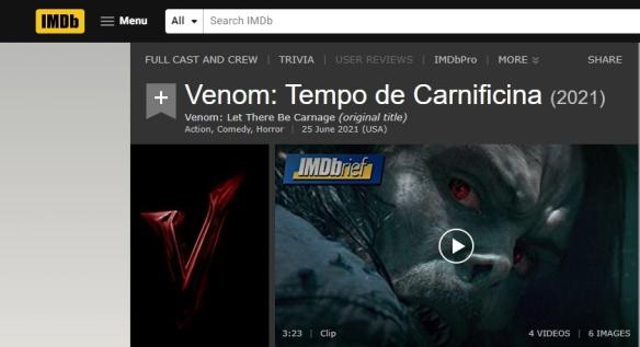 Venom - Tempo de Carnificina - Título Oficial do filme