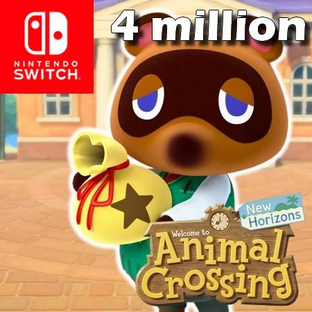 Animal Crossing New Horizons ultrapassa 4 milhões de unidades vendidas no Japão
